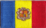 Andorra Embroidered Flag Patch, style 04